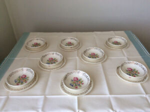 "VAISSELLE ""SAMPLER PETIT POINT BRITISH EMPIRE WARE"" CHINA"