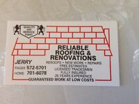 RELIABLE ROOFING AND RENOVATIONS