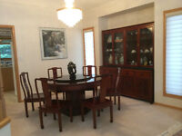 Rosewood Table set with Buffet
