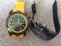Brand new quartz watches with rubber strap