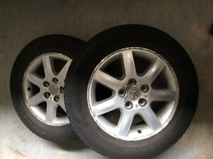 Toyota rims and tires (4) 215/60r/16