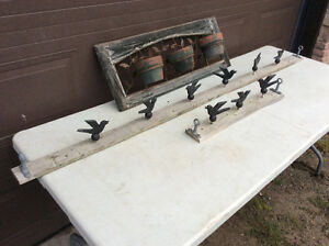 9 Cast iron Small Birds And 3 ppt ornate friezze