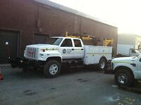 GMC Top Kick with service body and crane