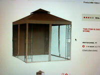 gazebo canopy, netting & most frame parts