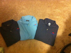 3 Denver Hayes Polo Shirts-Size Small