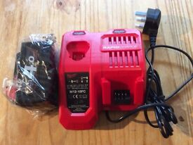 Milwaukee 4AH battery and rapid charger
