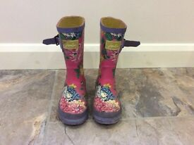 GIRLS JOULES WELLIES SIZE 9
