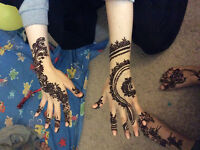 christmas special heena tattoo/makeup \hair style/bangles
