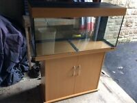 Jewel Rio 180 Fish Tank with Cabinet and accessories
