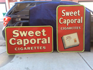 Two Vintage 1928 & 1948 Sweet Caps Signs