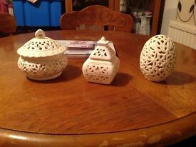 3 candle holders