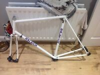 Steel Raleigh bike frame