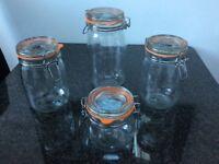 Set of 4 Kilner jars