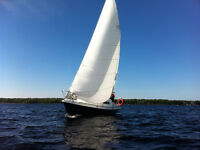 1977 Challenger 25' Sailboat in great cond, 8HP Honda Outboard!