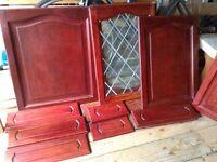 Solid Belgium Oak kitchen cabinet doors