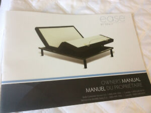 "Power Bed EASE SEALY 54"" double power adjustable &800.00"