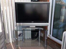 "Sharp 32"" TV and Glass Stand"