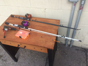 3 Brand new fishing rods with reels !