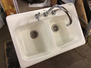 Kohler Cast Iron Kitchen Sink with Faucet