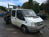 Ford transit crew cab tipper with noisy top end p/x clearance