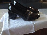 Purple/ black shoe