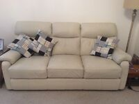 Quality cream leather sofas
