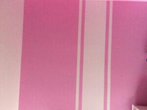 Gallon de peinture rose jamais ouvert.