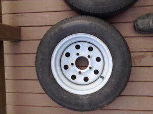 SET TRITON TRAILER RADIAL TIRES/RIMS - 145R12 (10 PLY OR E PLY)