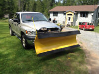 2008 Dodge1500 quad 4x4 7.5 Diamond plow $16500. (MINT) 99000km.