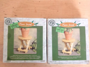 2 wood folding plant stands, holds one palnt-brand new