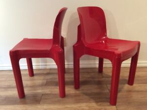 2 Chaises Empilables Treco-1970 Vintage Chairs by G.Maur Design