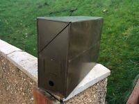 Vintage metal filing box good condition can post