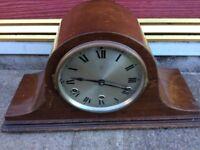 Vintage HAC Napoleon Wooden Mantel Clock-Westminster Chime
