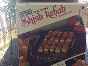 Shish kebab cooking set