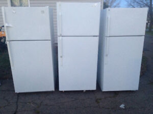 Three fridges all come with warranty