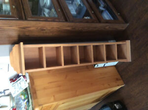 SOLID WOODEN CURIO SHELF