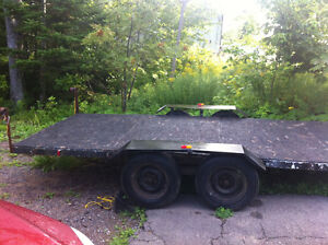 7'x16' flat deck tandem trailer for sale