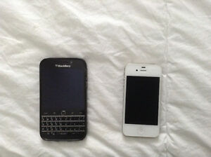 Two phones iPhone 4s and BB classic 50.00each