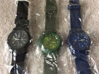 Brand new quartz watch with canvas strap