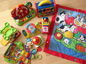 Large assortment of toddler toys all you will need