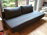 Lovely MUJI, 3 Seater Sofa Bed. Double Sofabed. Charcoal Grey Colour, Very Modern & Chic. BARGAIN