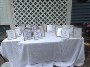 Reception Table Numbers  #'s  1  to  23