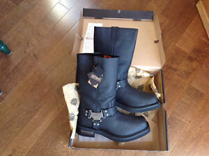 H.D. Leather boots