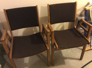 Two matching arm chairs