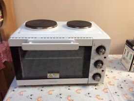 Table top compact cookworks electric oven/grill/Hobs in white