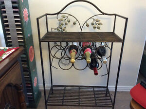 Wrought iron Wine Stand