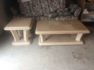 Unique set of solid wood end,coffee, and accent tables.