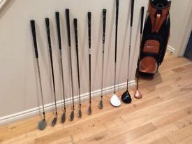 Nike Golf bag with variety of clubs