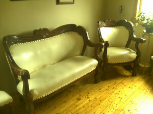 Victorian love seat and matching chair
