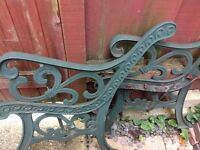 Iron bench arms